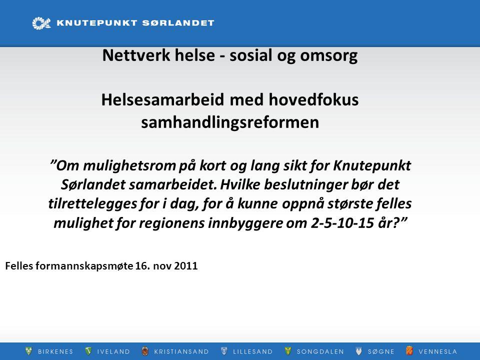 Felles formannskapsmøte 16. nov 2011