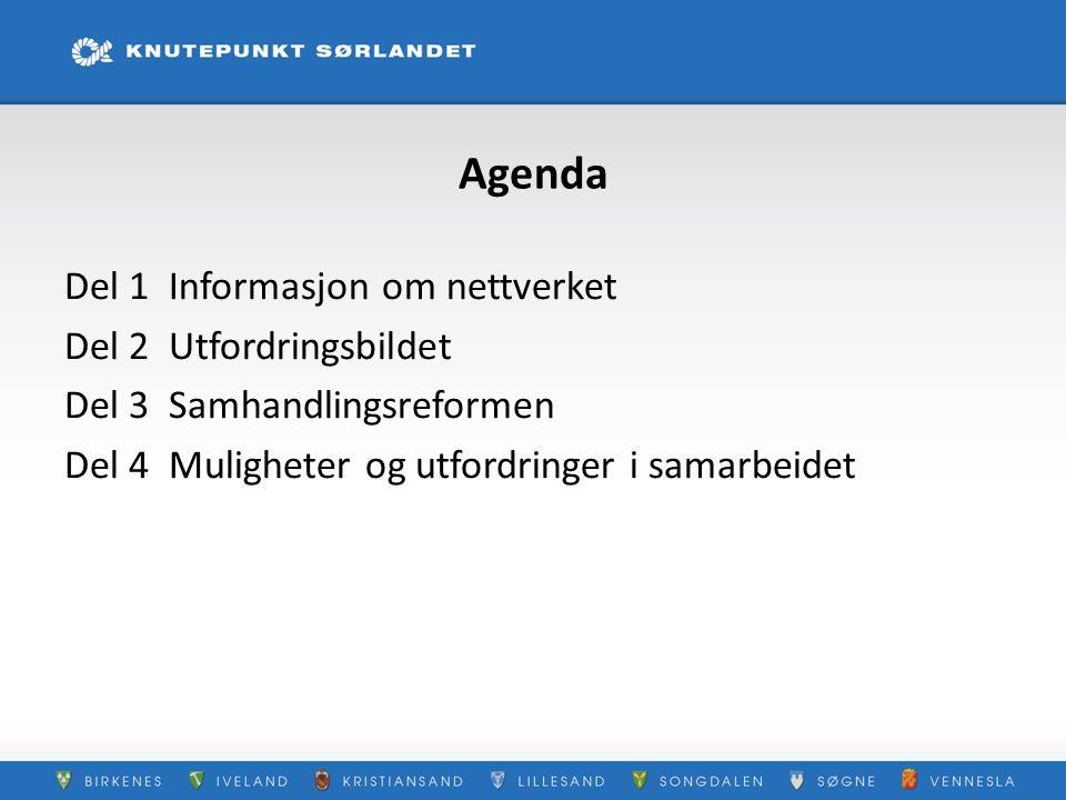 Agenda Del 1 Informasjon om nettverket Del 2 Utfordringsbildet