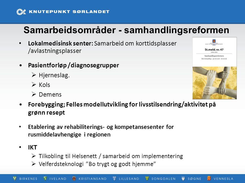 Samarbeidsområder - samhandlingsreformen