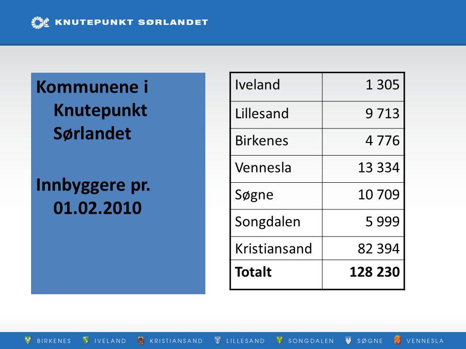 Kommunene i Knutepunkt Sørlandet