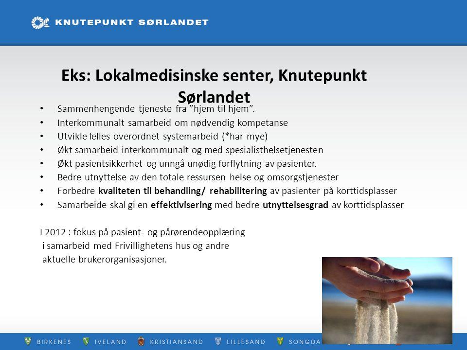 Eks: Lokalmedisinske senter, Knutepunkt Sørlandet