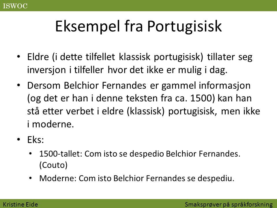 Eksempel fra Portugisisk