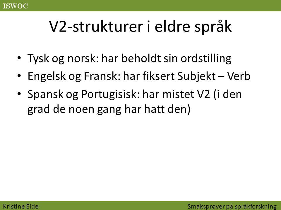 V2-strukturer i eldre språk