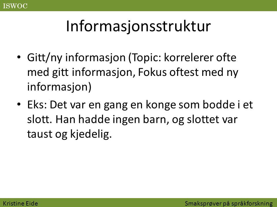 Informasjonsstruktur