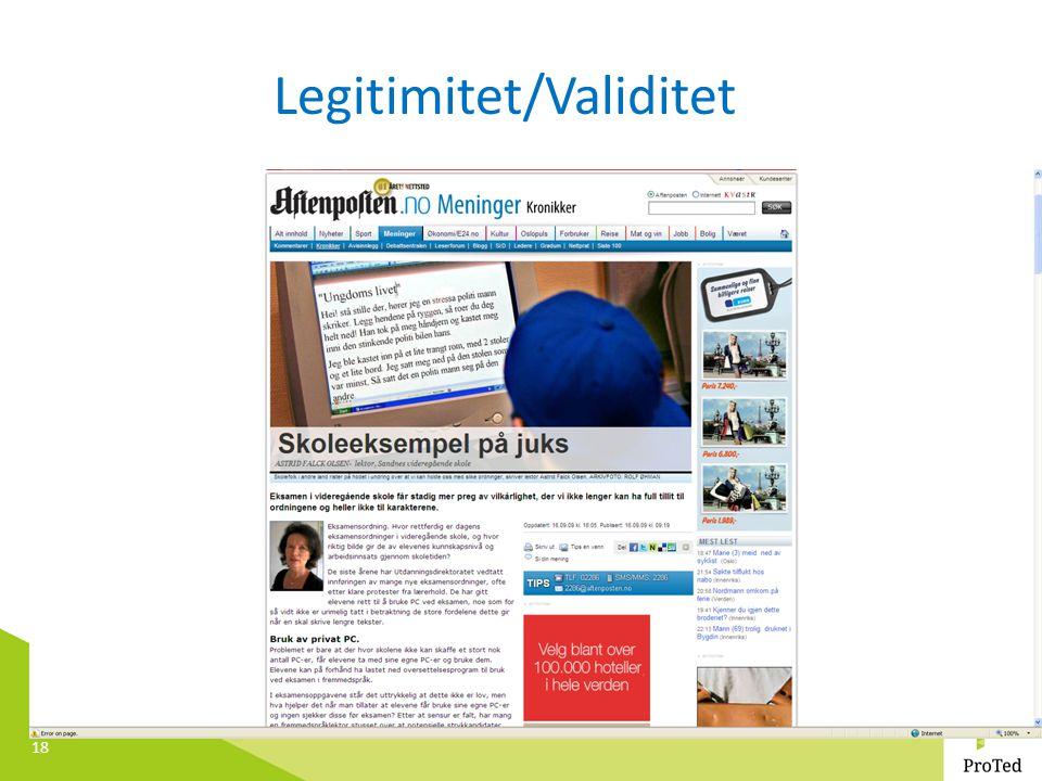 Legitimitet/Validitet