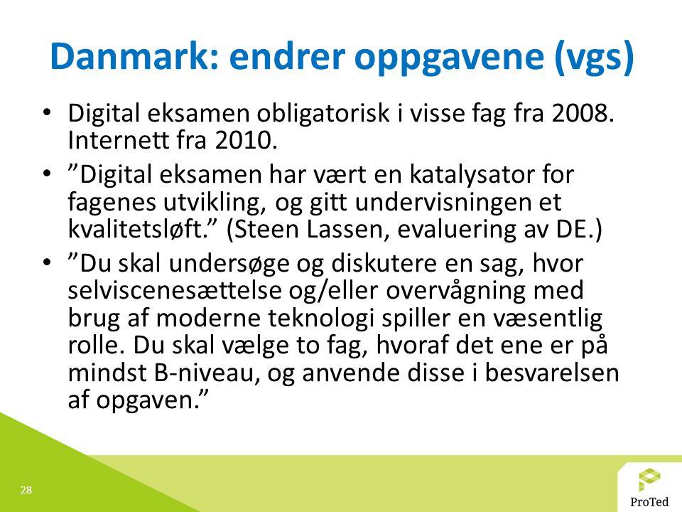 Danmark: endrer oppgavene (vgs)