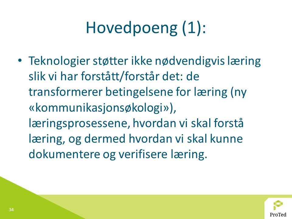 Hovedpoeng (1):