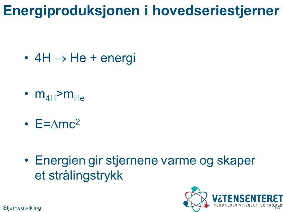 Energiproduksjonen i hovedseriestjerner