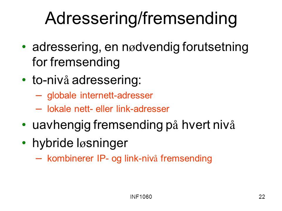 Adressering/fremsending