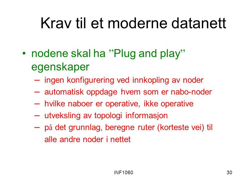 Krav til et moderne datanett