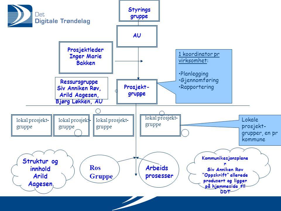 Ros Gruppe Struktur og innhold Arild Aagesen Arbeids prosesser