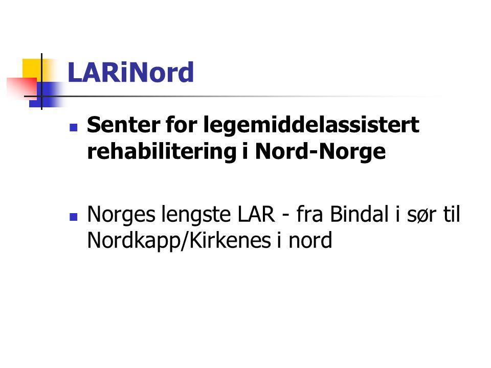 LARiNord Senter for legemiddelassistert rehabilitering i Nord-Norge
