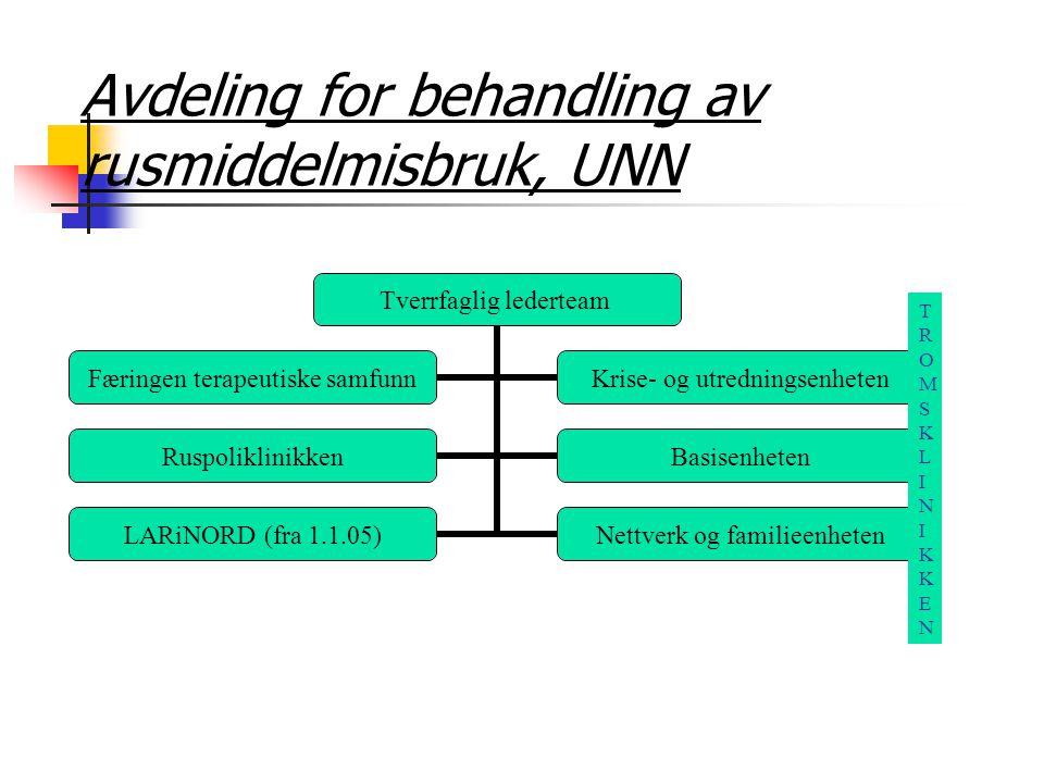 Avdeling for behandling av rusmiddelmisbruk, UNN