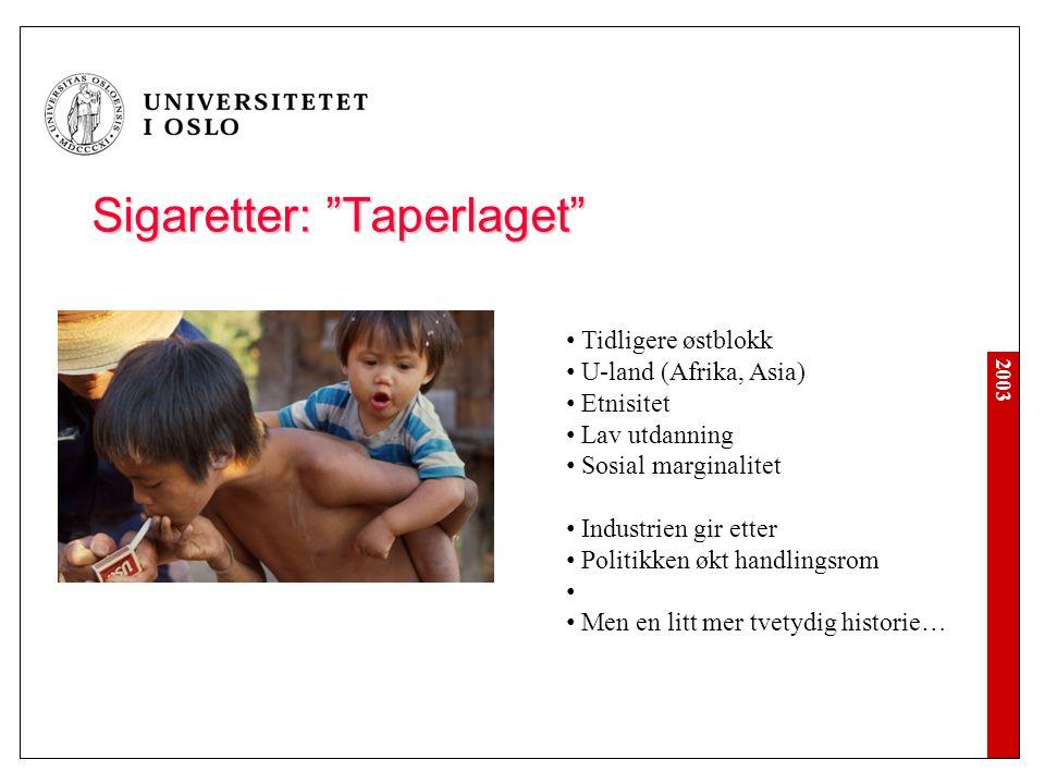 Sigaretter: Taperlaget