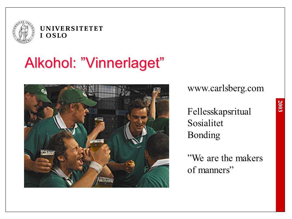 Alkohol: Vinnerlaget