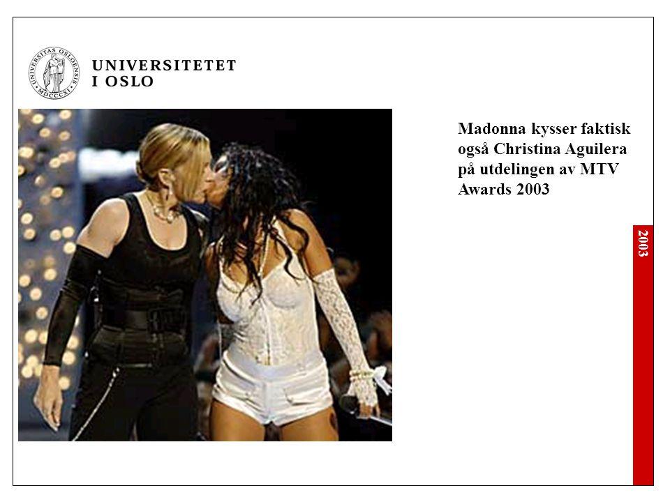 Madonna kysser faktisk