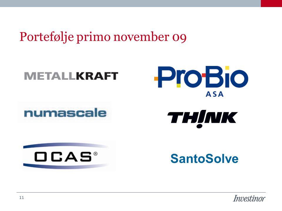 Portefølje primo november 09