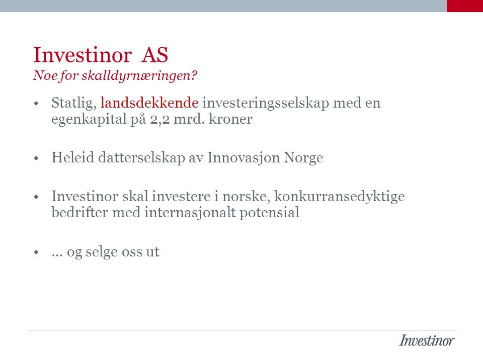Investinor AS Noe for skalldyrnæringen