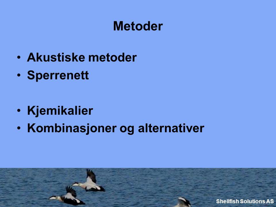 Metoder Akustiske metoder Sperrenett Kjemikalier