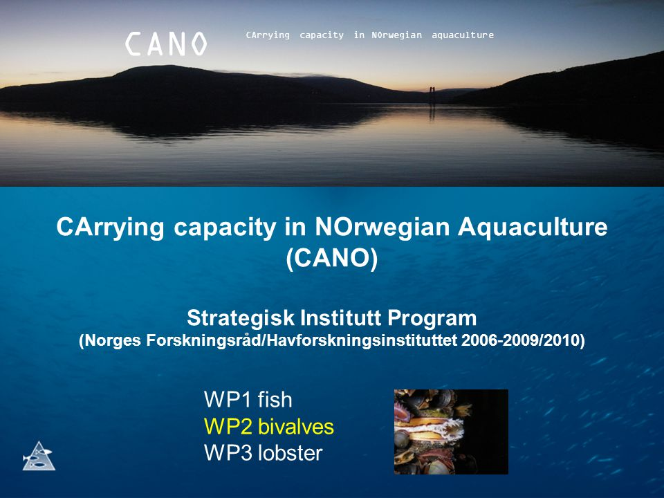 CArrying capacity in NOrwegian aquaculture