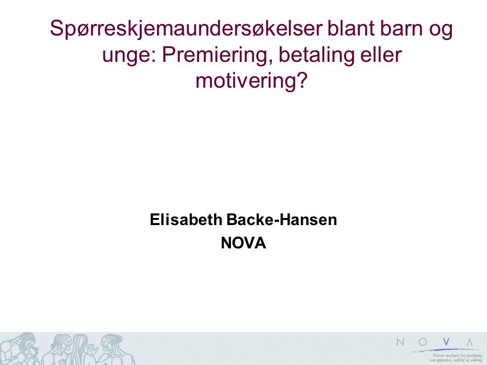 Elisabeth Backe-Hansen NOVA