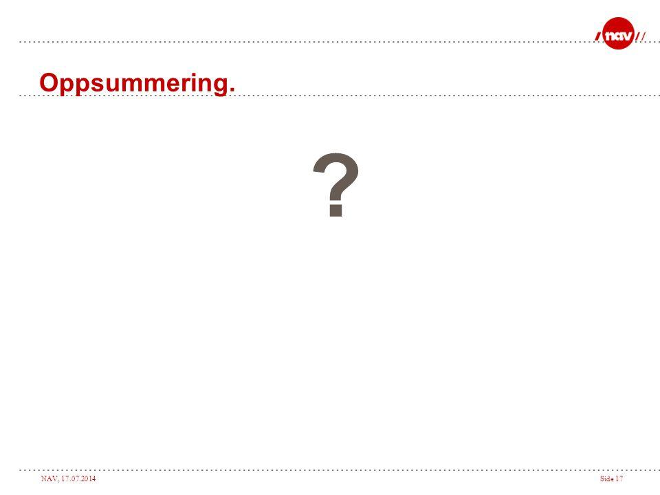 Oppsummering.