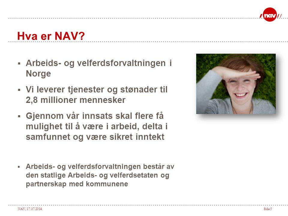 Hva er NAV Arbeids- og velferdsforvaltningen i Norge