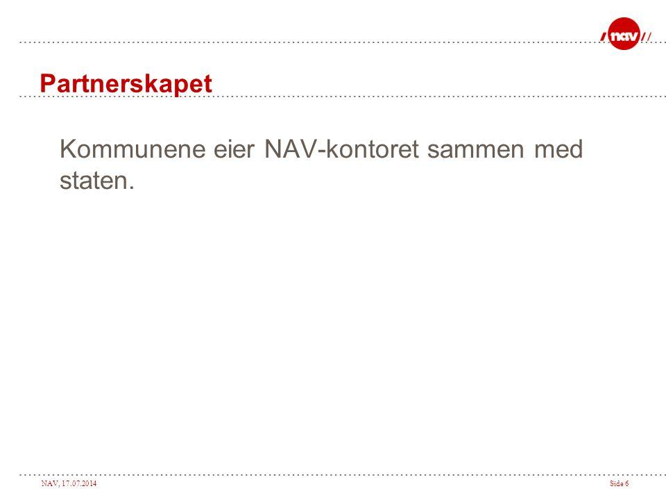 Partnerskapet Kommunene eier NAV-kontoret sammen med staten.