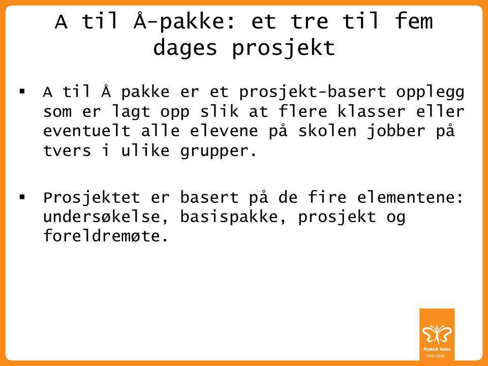 A til Å-pakke: et tre til fem dages prosjekt