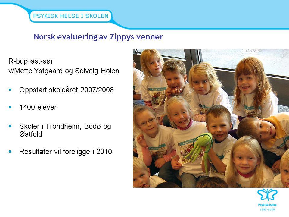 Norsk evaluering av Zippys venner