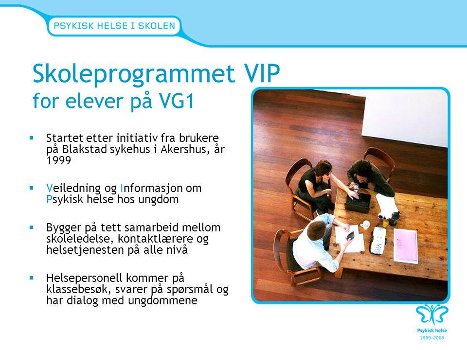 Skoleprogrammet VIP for elever på VG1
