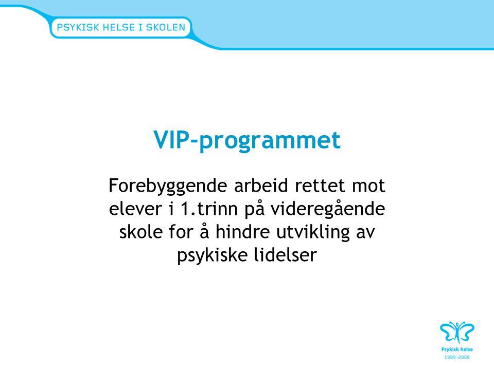 VIP-programmet Forebyggende arbeid rettet mot elever i 1