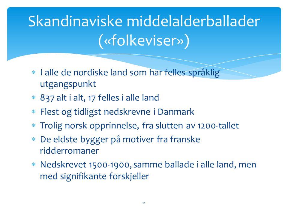 Skandinaviske middelalderballader («folkeviser»)