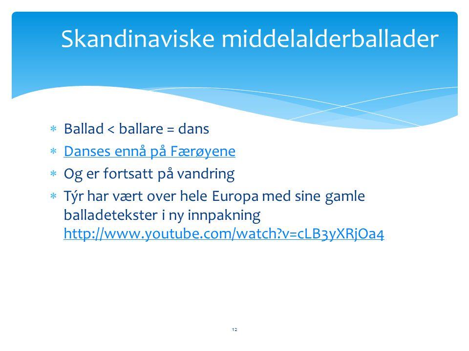 Skandinaviske middelalderballader
