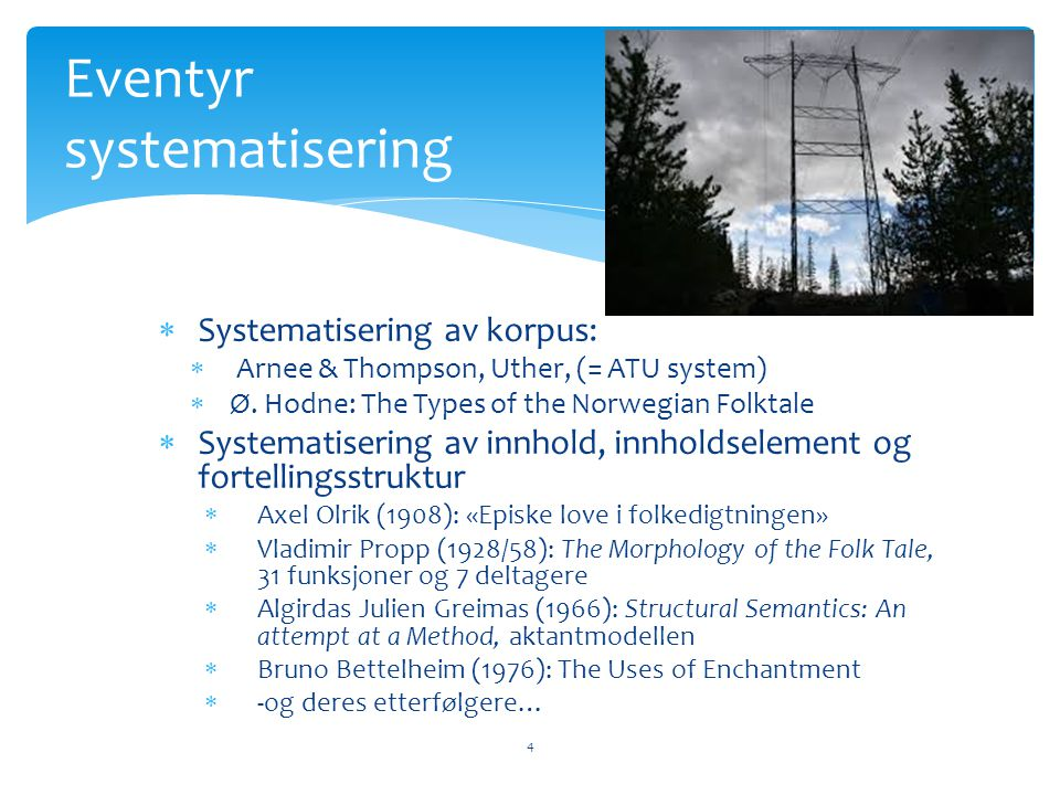 Eventyr systematisering
