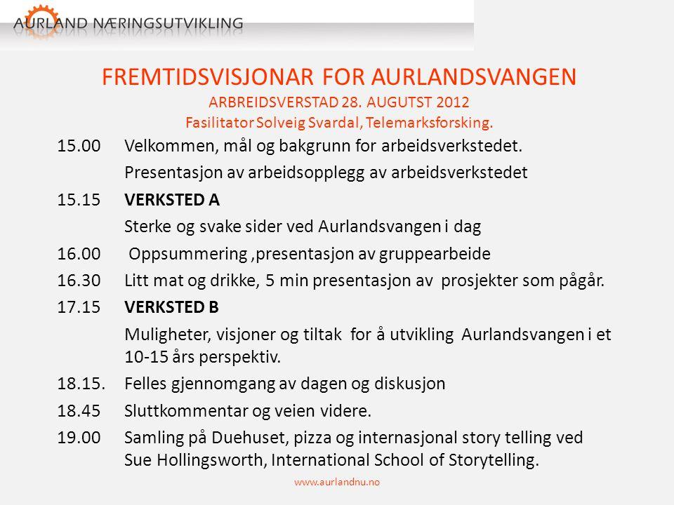 FREMTIDSVISJONAR FOR AURLANDSVANGEN ARBREIDSVERSTAD 28