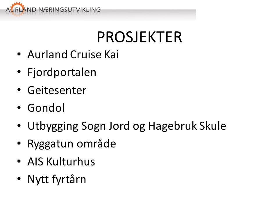 PROSJEKTER Aurland Cruise Kai Fjordportalen Geitesenter Gondol