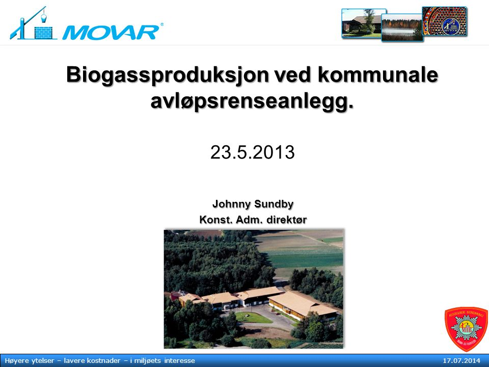 Biogassproduksjon ved kommunale avløpsrenseanlegg.