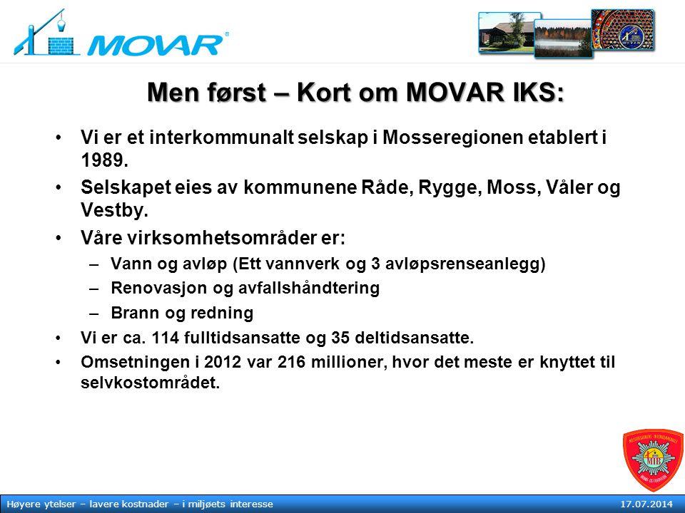 Men først – Kort om MOVAR IKS: