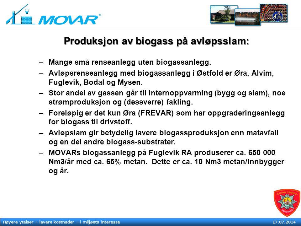 Produksjon av biogass på avløpsslam: