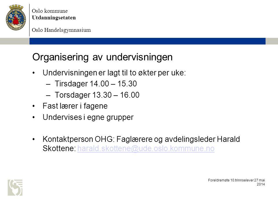 Organisering av undervisningen