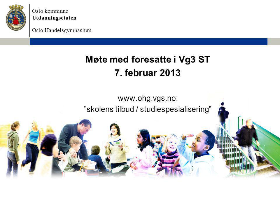 Møte med foresatte i Vg3 ST