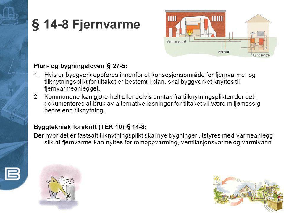 § 14-8 Fjernvarme Plan- og bygningsloven § 27-5: