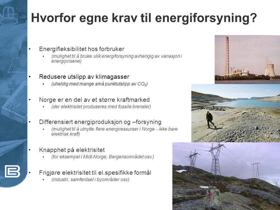Hvorfor egne krav til energiforsyning