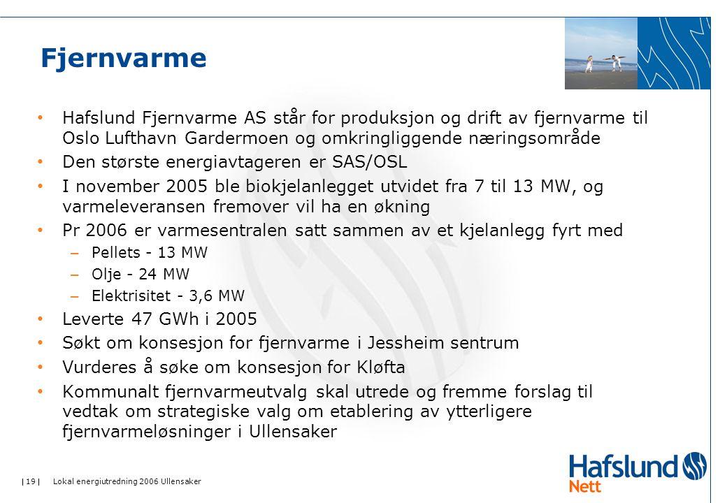 Fjernvarme Hafslund Fjernvarme AS står for produksjon og drift av fjernvarme til Oslo Lufthavn Gardermoen og omkringliggende næringsområde.
