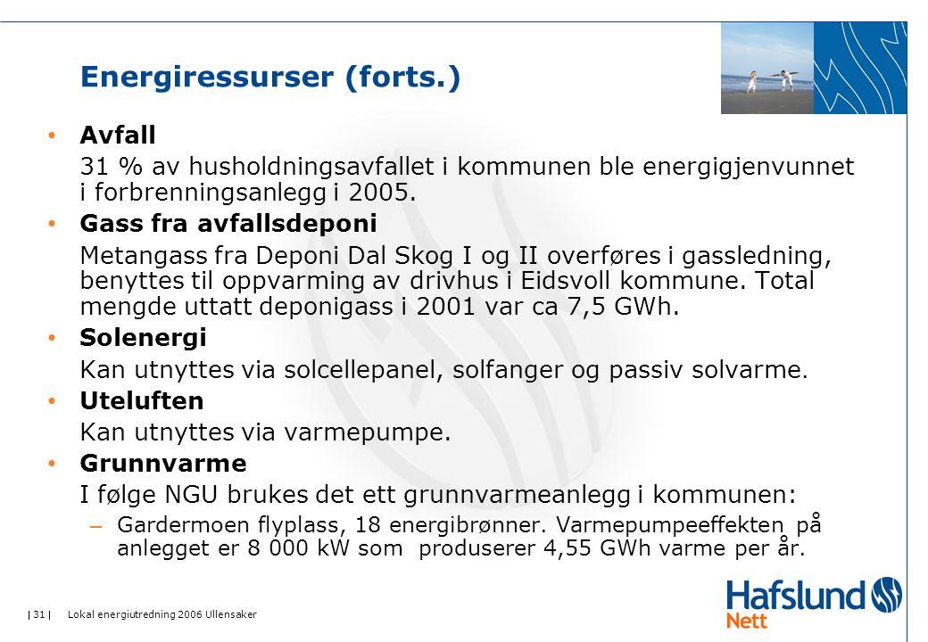 Energiressurser (forts.)