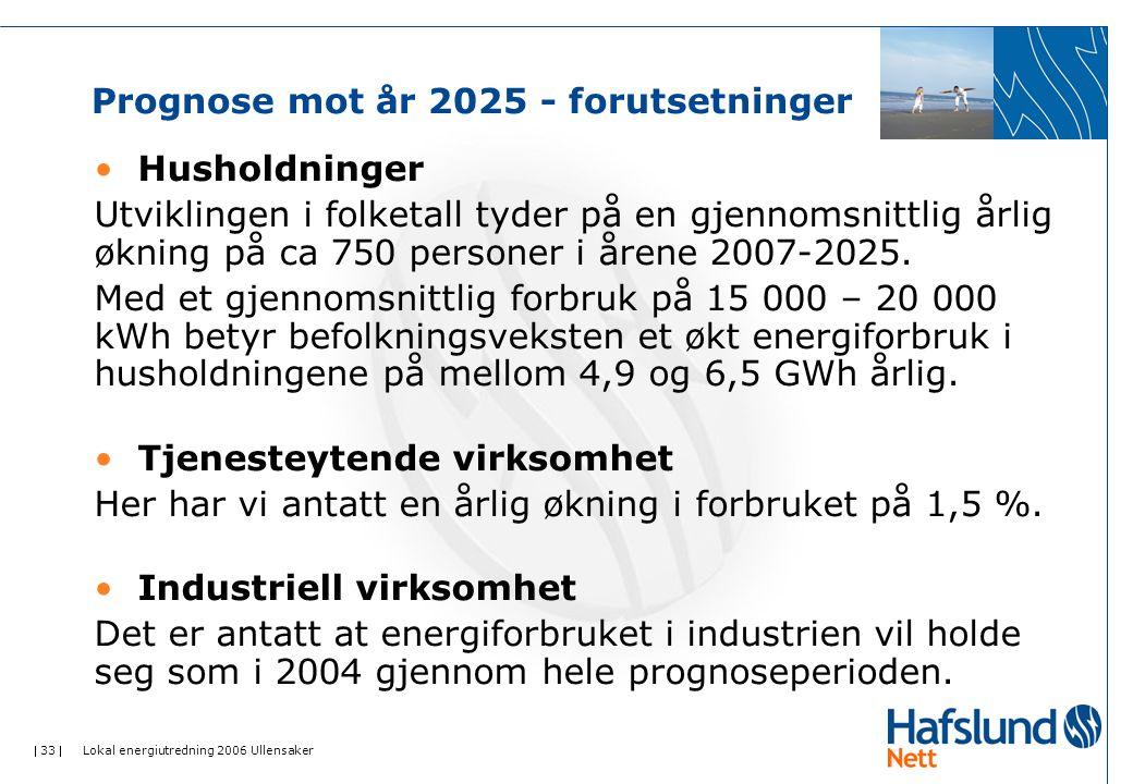 Prognose mot år 2025 - forutsetninger