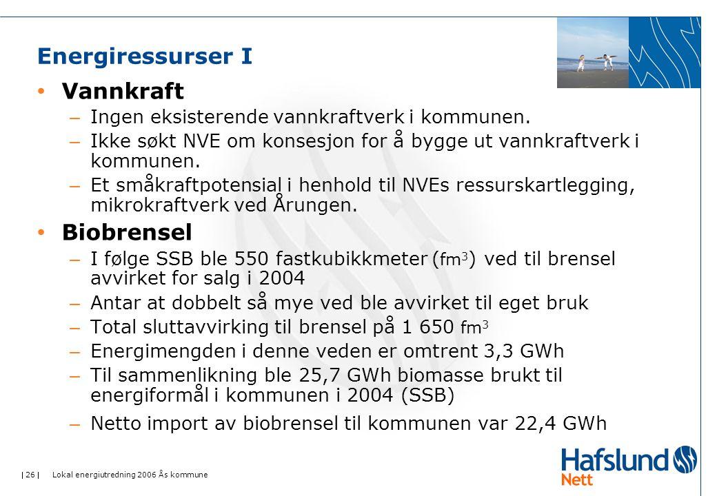 Energiressurser I Vannkraft Biobrensel