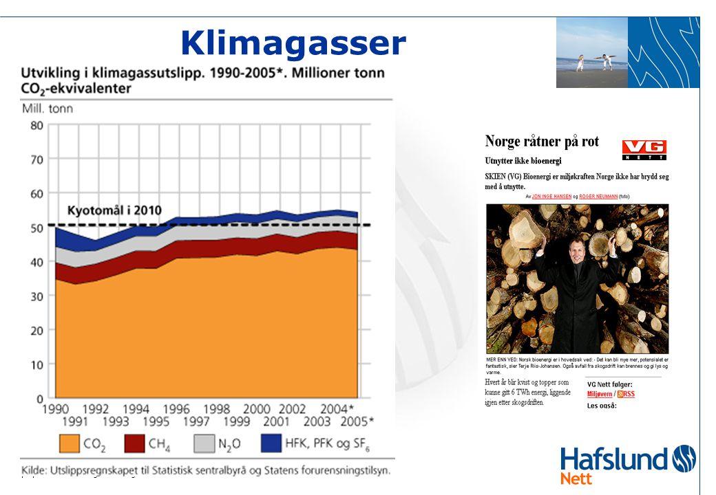 Klimagasser Bakgrunnen er dette bla Kyoto avtalen som Norge har forpliktet seg til.