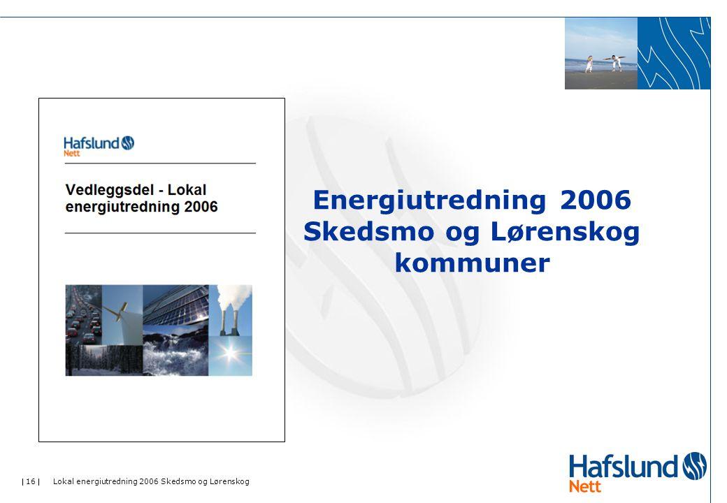 Energiutredning 2006 Skedsmo og Lørenskog kommuner